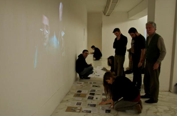 Workshop EXILE, curato dal Museo in Esilio, all'interno del MLAC (Roma). Realizzazione materiale da spedire a Tel Aviv. (foto di Letizia Romeo)
